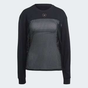 Лонгслив by Stella McCartney adidas. Цвет: серый
