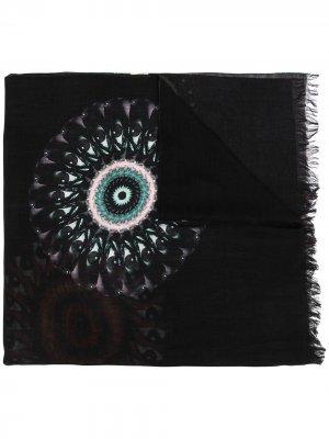 Eye optical illusion-print scarf Yohji Yamamoto. Цвет: черный