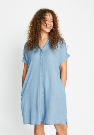 Платье Violeta by Mango - UVA. Цвет: голубой