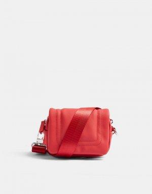 Красная миниатюрная сумка через плечо -Красный Topshop