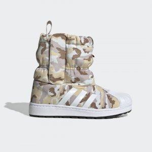 Зимние сапоги Superstar Originals adidas. Цвет: белый