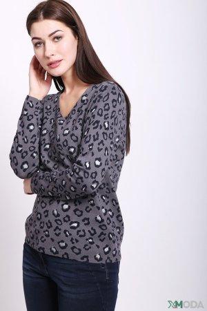 Пуловер Lebek. Цвет: серый