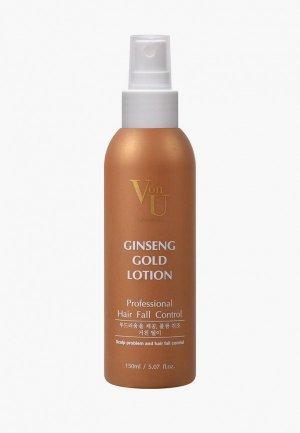 Лосьон для волос Von U роста с экстрактом золотого женьшеня. Цвет: прозрачный