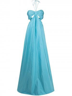 Длинное платье Emmeline с вырезом халтер Alexis. Цвет: синий