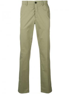 Классические брюки чинос Prada. Цвет: зеленый