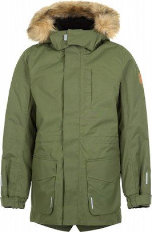Куртка утепленная для мальчиков Naapuri, размер 152 Reima. Цвет: зеленый