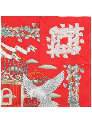 Платок Envol 1990-х годов Hermès. Цвет: разноцветный