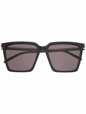 Oversized square sunglasses Saint Laurent Eyewear. Цвет: черный