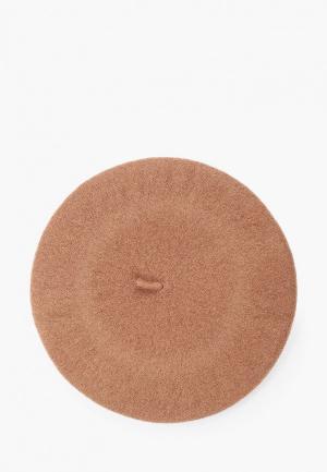 Берет Pieces. Цвет: коричневый
