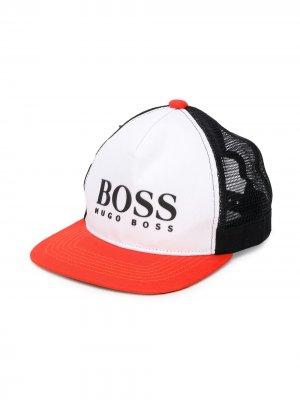 Кепка с логотипом Boss Kids. Цвет: оранжевый