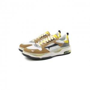 Комбинированные кроссовки Drake Premiata. Цвет: коричневый