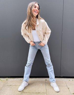 Укороченная джинсовая куртка цвета экрю -Белый Pimkie