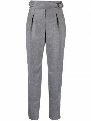 S Max Mara брюки с пряжками на поясе 'S. Цвет: серый