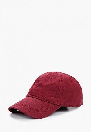 Бейсболка Lacoste. Цвет: бордовый