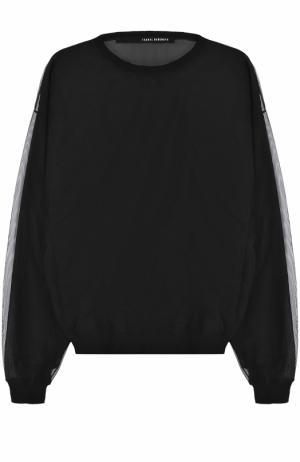 Прозрачный пуловер с круглым вырезом Isabel Benenato. Цвет: черный