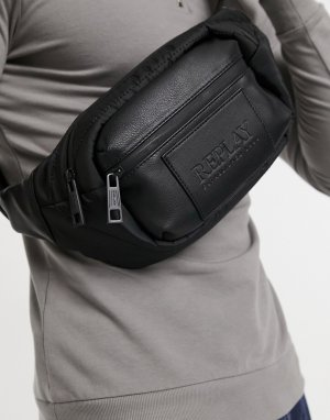 Черная сумка-кошелек на пояс -Черный цвет Replay