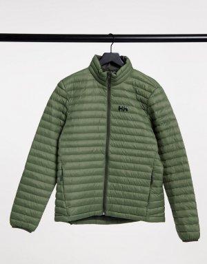 Зеленая утепленная куртка Sirdal-Зеленый Helly Hansen