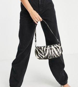 Эксклюзивная сумка на плечо в стиле 90-х с зебровым принтом London-Разноцветный My Accessories
