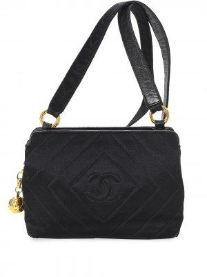 Маленькая сумка на плечо с логотипом CC Chanel Pre-Owned. Цвет: черный