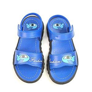 Спортивные сандалии с мультипликационным узором для мальчиков SHEIN. Цвет: синий