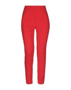 Повседневные брюки ÉCLÀ. Цвет: красный