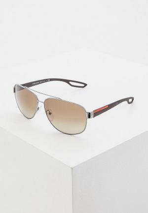 Очки солнцезащитные Prada Linea Rossa PS 58QS 5AV1X1. Цвет: серебряный