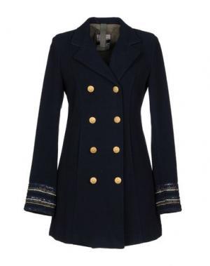 Пальто HISTORY REPEATS. Цвет: темно-синий