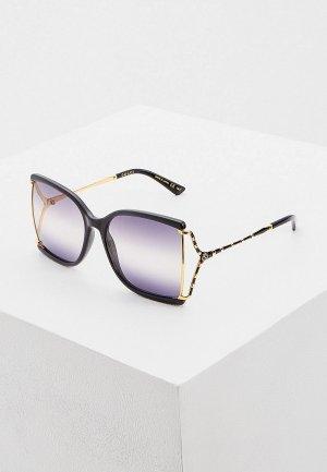 Очки солнцезащитные Gucci GG0592S 002. Цвет: черный
