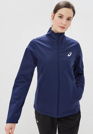 Куртка ASICS WARM RUNNING JACKET. Цвет: синий