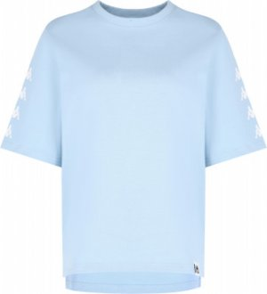 Футболка женская , размер 46-48 Kappa. Цвет: голубой