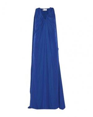 Длинное платье LANVIN. Цвет: синий