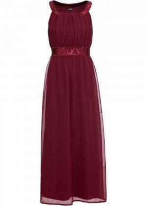 Платье макси bonprix. Цвет: красный