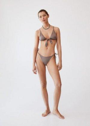 Плавки от бикини с узлами - Paris Mango. Цвет: коричневый средний
