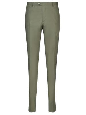 Классические брюки ETRO. Цвет: зеленый