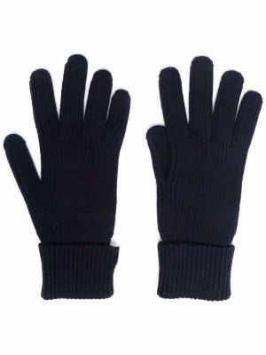 Перчатки с логотипом Woolrich. Цвет: синий