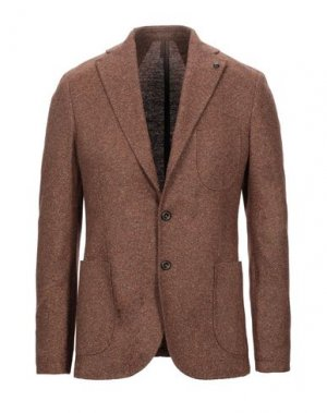 Пиджак LABORATORI ITALIANI. Цвет: коричневый