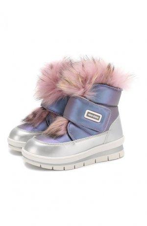 Утепленные ботинки Jog Dog. Цвет: фиолетовый
