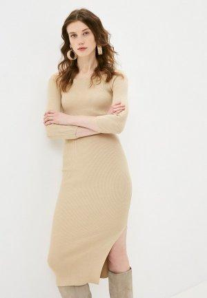 Платье Katya Erokhina Viola Beige. Цвет: бежевый