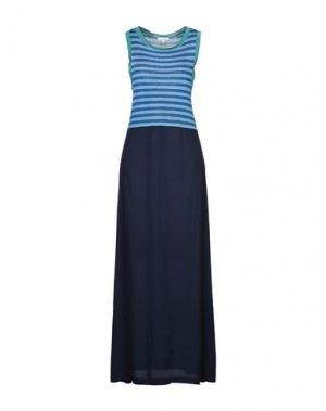 Длинное платье I BLUES. Цвет: лазурный