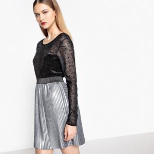 Блузка с вышивкой гладью NUMPH. Цвет: черный