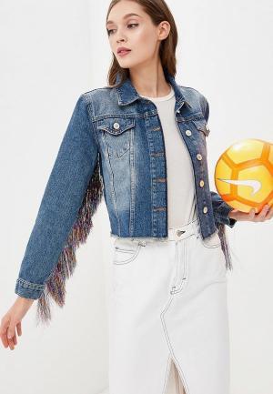 Куртка джинсовая Miss Selfridge. Цвет: синий