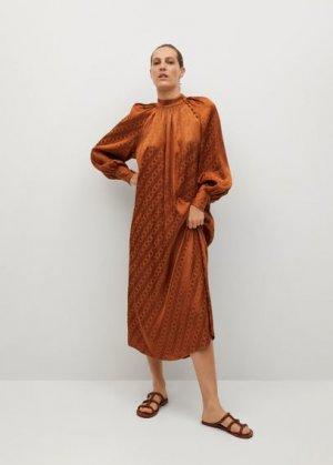 Длинное струящееся платье - Tao-a Mango. Цвет: красно-коричневый