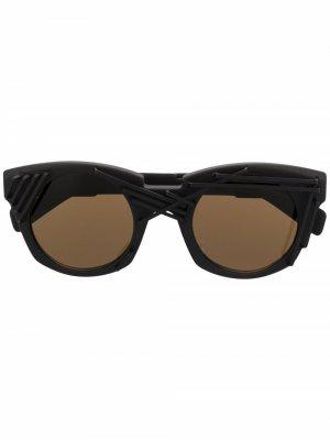Солнцезащитные очки U6 в круглой оправе Kuboraum. Цвет: синий