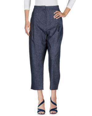Джинсовые брюки-капри IVORIES. Цвет: синий