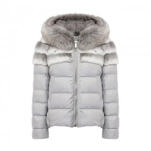 Пуховая куртка Max&Moi. Цвет: серый