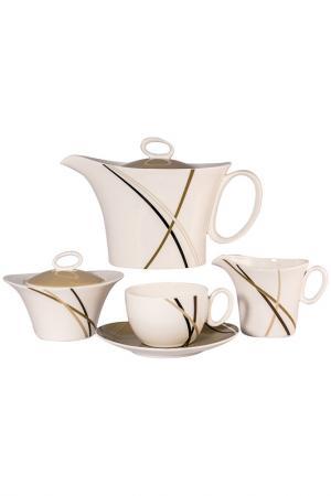 Сервиз чайный 17 пр, на 6 пер. Royal Porcelain Co. Цвет: бежевый