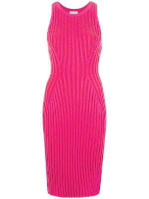 Платье без рукавов в рубчик Milly. Цвет: розовый