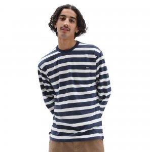 Лонгслив Off Wall Classic Stripe Pocket VANS. Цвет: голубой