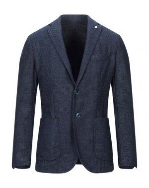 Пиджак LUIGI BIANCHI Mantova. Цвет: грифельно-синий