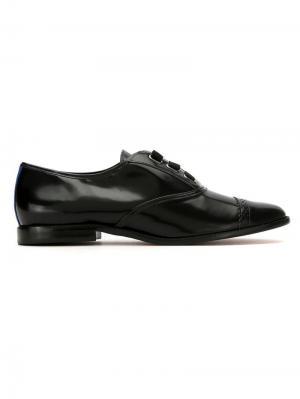 Leather Laço oxfords Blue Bird Shoes. Цвет: черный